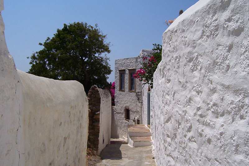 hora patmos island greece